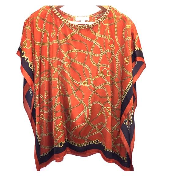 27121054822acb Micheal Kors silk chain blouse poncho L XL. M 5abff99ed39ca298b7e5e2f2.  Other Tops you may like. Michael ...
